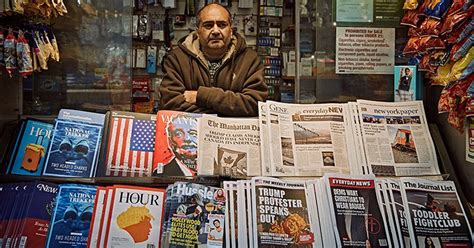 the fake newsstand prints headlines from the internet into