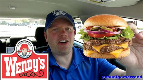 Reed Reviews Wendy's Dave's Double - YouTube