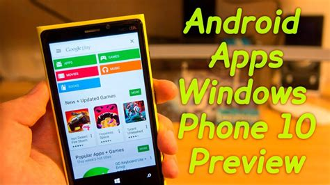 How to Install ANDROID Apps on WINDOWS PHONE 10 Preview