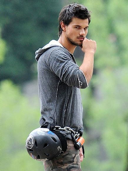 Taylor Lautner on the NYC Set of His New Action Flick