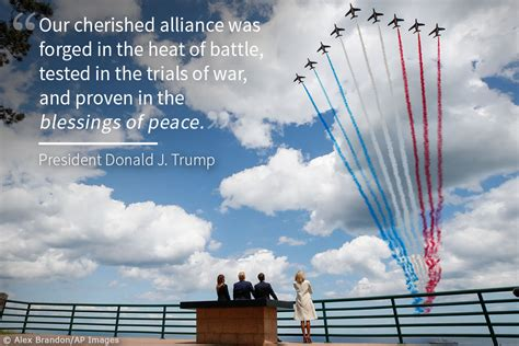 President Trump in Normandy on D-Day anniversary [graphic