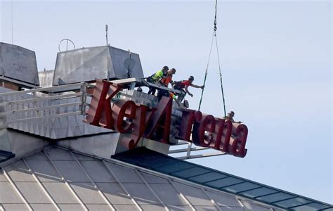 KeyArena no more: Watch the sign come down as Climate