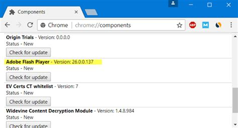 How To Update Individual Components on Chrome Components Page