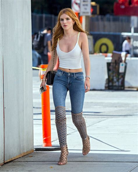 Celebrity Street Style: Bella Thorne Booty Candids in New