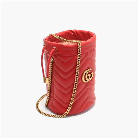GG Marmont Mini Bucket Red – Image Group