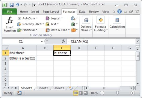 MS Excel: How to use the CLEAN Function (WS)