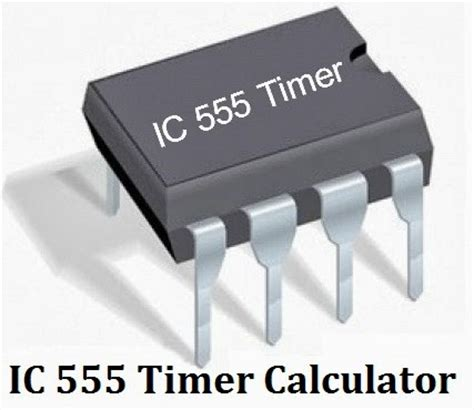 IC 555 Timer Calculator with Formulas and Equations