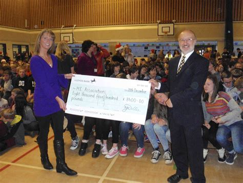 Thank you, Wallingford School, for your magnificent cheque