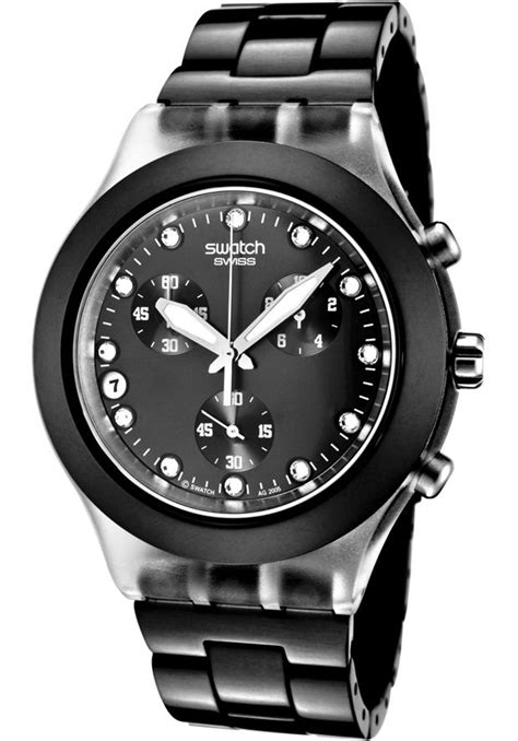Swatch SVCK4035AG Watches,Irony Diaphane Chronograph White