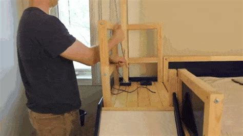 Dad Makes Son Badass Bed With Slide And Secret Room In
