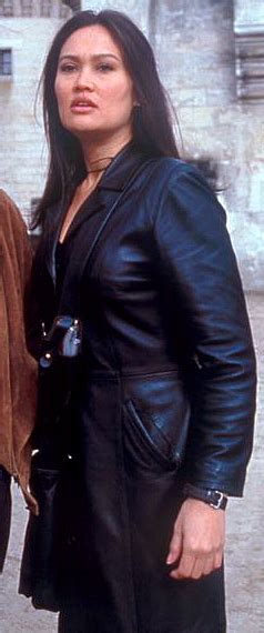 Leather Coat Daydreams: Tia Carrere rocking leather coats