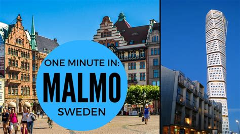ONE MINUTE IN: MALMO | SWEDEN TRAVEL - YouTube