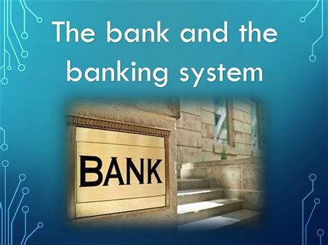 The bank and the banking system - презентация онлайн