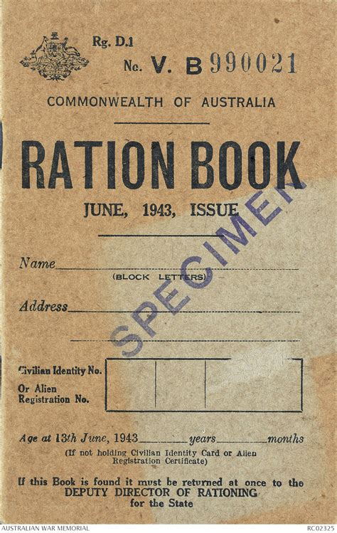 Ration book, June, 1943, Issue