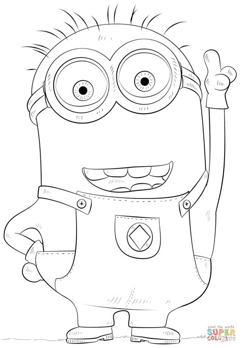 Minion Phil coloring page | Free Printable Coloring Pages