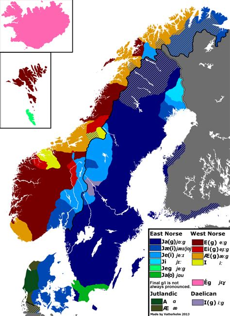 Dialects of Scandinavia [1024 x 1409] : MapPorn