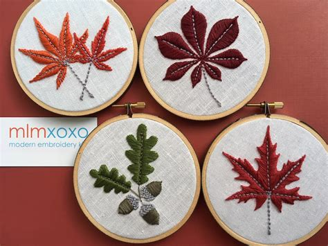 21 Fall Embroidery Patterns and Kits to Get You into the