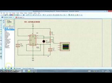 Proteus - IC 555 Timer - Astable Mode - Hertz Calculation