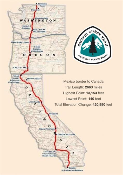 The Basics: The Pacific Crest Trail (PCT) is the